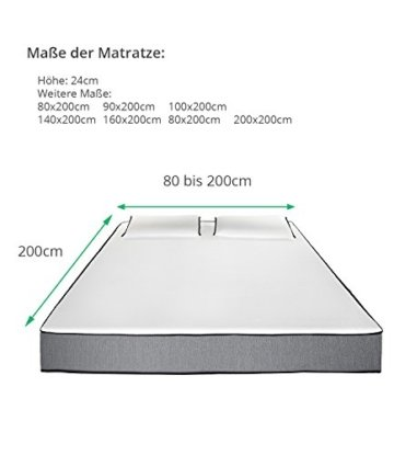 Premium Matratze I Matratzen mit 4 verschiedenen Härtegraden individuell anpassbar I H2 H3 I Hochwertige Matratzen mit Kaltschaum und Gelschaum I Verschiedene Größen I Filip Lenz Matratze - 6